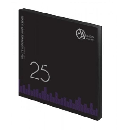 Folii Interioare Antistatice Music Protection Deluxe Audiophile Negre Vinyl 12 Inci (25 Buc)