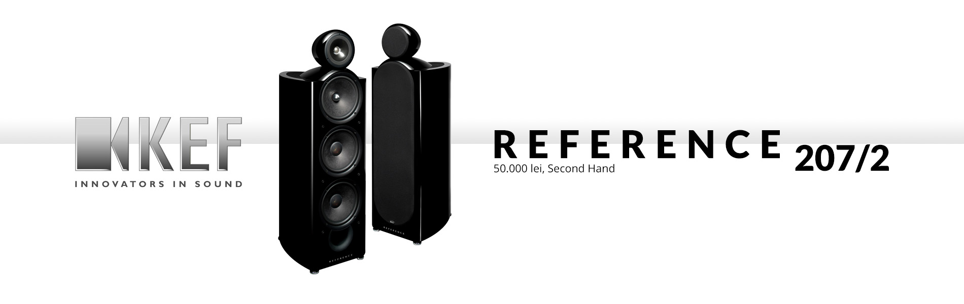 KEF Reference 207/2 Black (Second Hand)